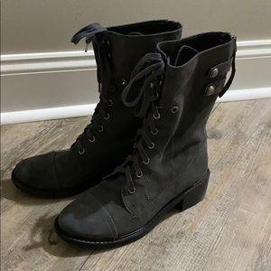 Sam Edelman gray lace up boots l!